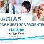 Gracias a todos nuestros pacientes. Clinalgia, porque la vida es para vivirla.