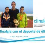 Clinalgia con el deporte y orgulloso de las medallas de nuestros pacientes deportistas.