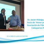 Dr. Javier Hidaldo, nombrado Socio de  Honor por la Asociación de Fibromialgia en Calasparra ( Murcia)