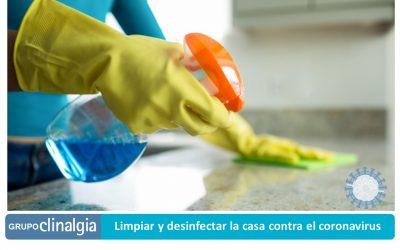 Limpiar y desinfectar la casa contra el coronavirus