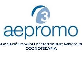 Logo de la Asociación Española de Profesionales Médicos en Ozonoterapia (AEPROMO)