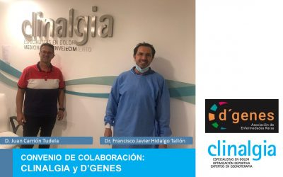 Clinalgia firma convenio de colaboración con  D'Genes (Asociación de Enfermedades Raras)