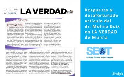 Respuesta al artículo del doctor Molina Boix en LA VERDAD de Murcia